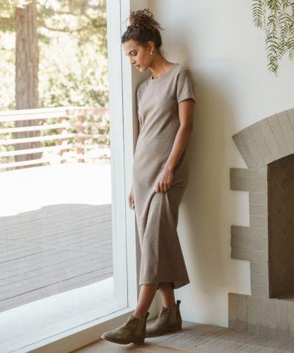 Everyday T-Shirt Dress - Taupe | Jenni Kayne
