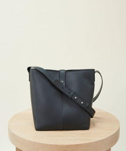 Mini Leather Bucket Bag - Black | Jenni Kayne