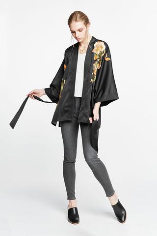 Peony & Butterfly Kimono Jacket