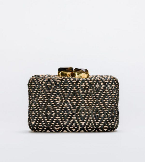 Cleo Straw Clutch Bag – Kayu