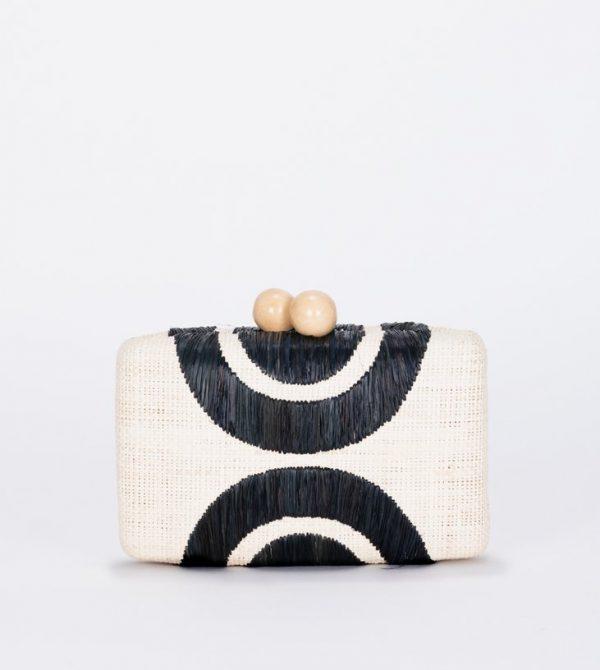 Ottis Embroidered Straw Clutch Bag – Kayu