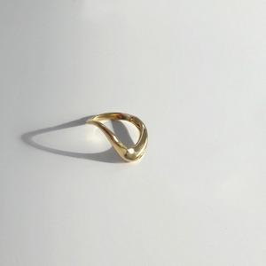 Large Wave Ring | Gold Plated