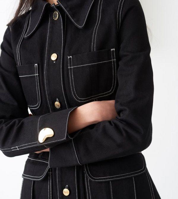Lizzy Black Denim Jacket