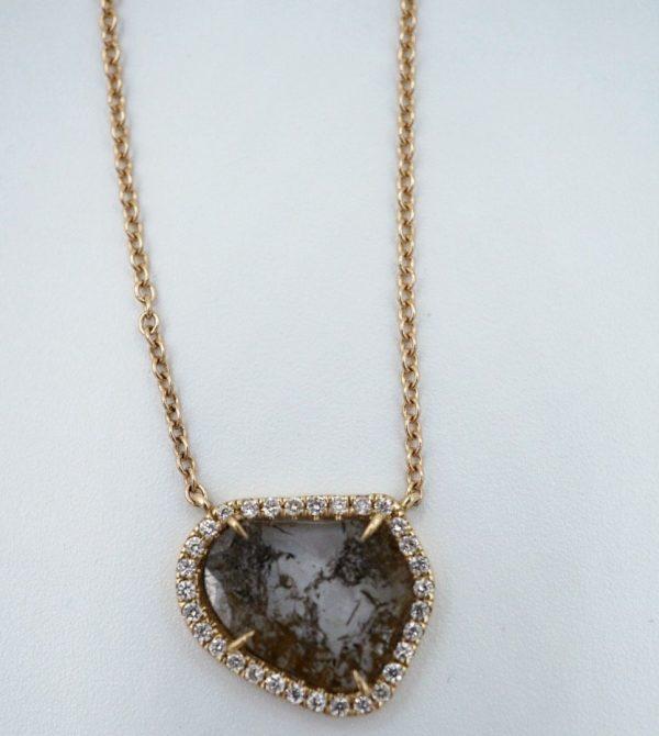 Medium Diamond Slice Necklace