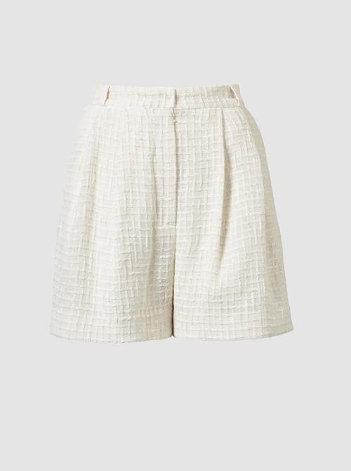 Lana Tweed Shorts Cream · TOVE Studio  · Advanced Contemporary Womenswear Brand
