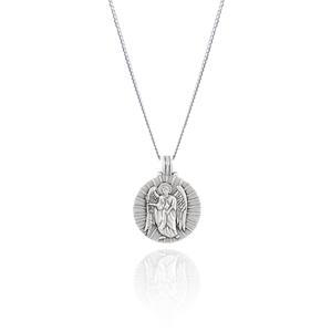 St Gabriel - Archangel Saint of Communication Necklace - Silver
