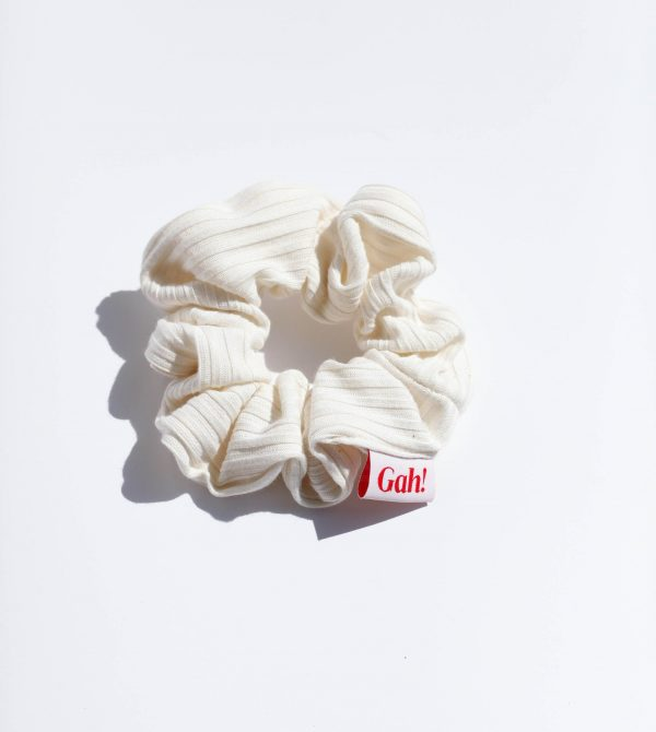Ribbed Scrunchie – Ivory