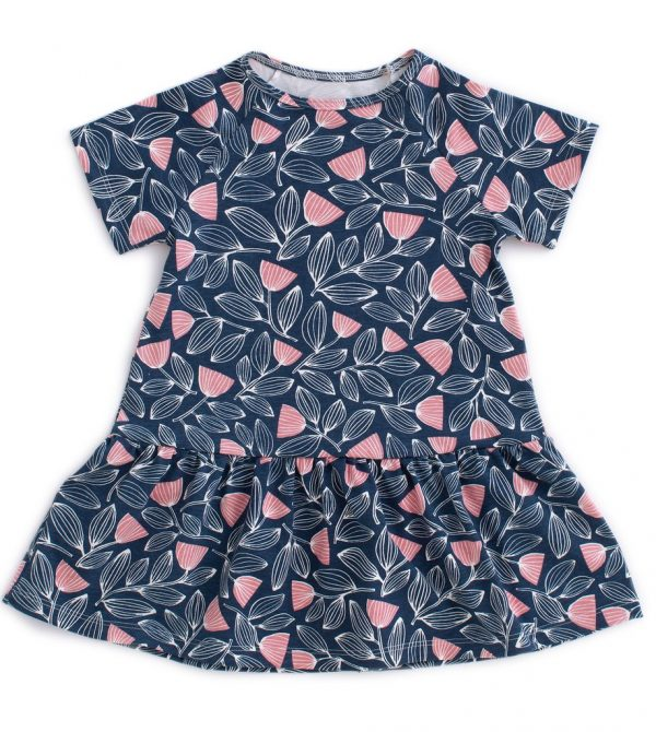 Milwaukee Dress – Holland Floral Midnight Blue & Dusty Pink
