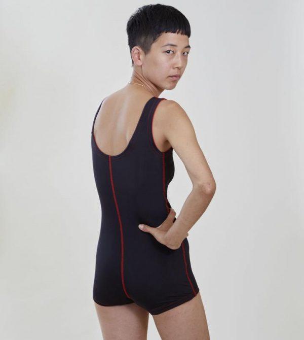 Hirsuit Swim – black/red
