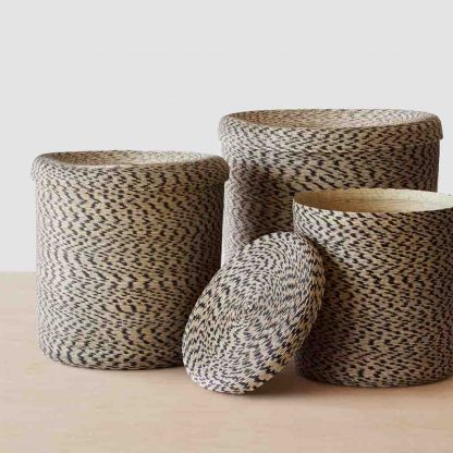 Woven Storage Baskets   Handcrafted with Palm Leaves – The Citizenry