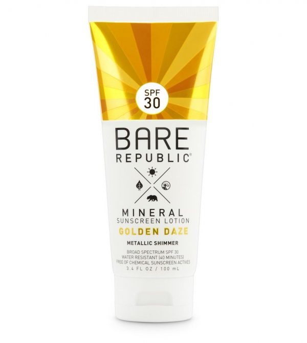 Mineral SPF 30 Gold Shimmer Sunscreen Lotion
