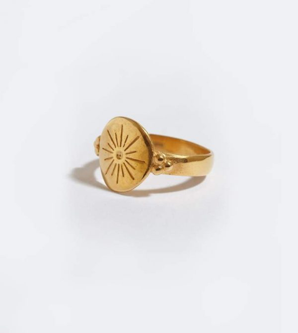 Morning Star Gold Plated Ring