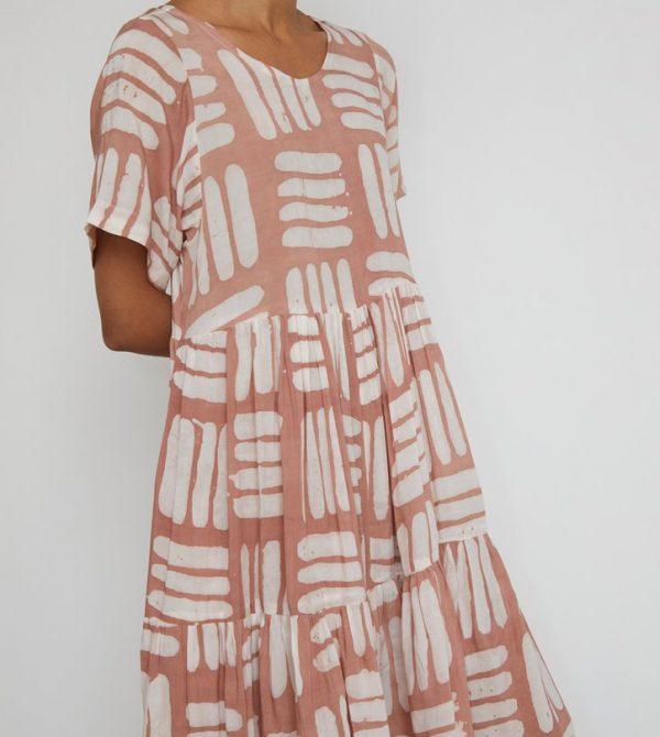 Osei Duro Layer Dress in Pink Basket