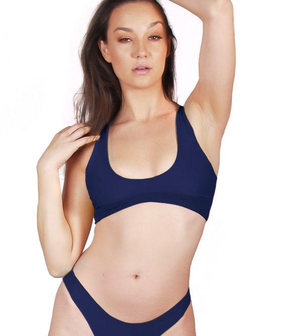 Windsor Bikini Top – Midnight