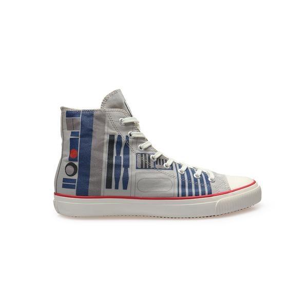 OFFICIAL Star Wars Mens R2-D2 High Top Vegan sneaker