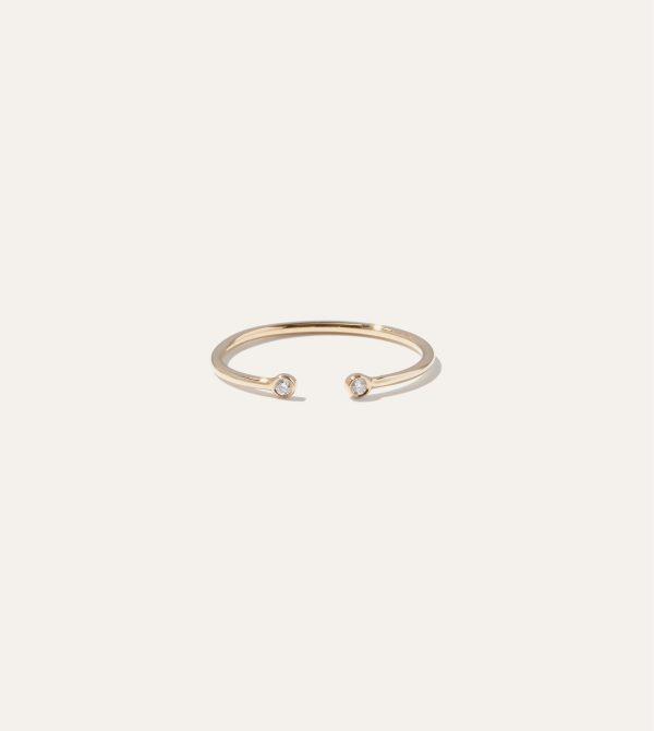 Diamond Bezel Open Ring