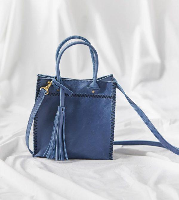 Mini Mara Crossbody // Blue Peony