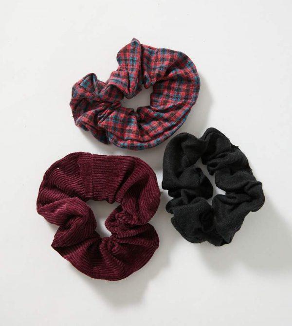 Afends Unisex Kinka – Hemp Scrunchies 3 Pack – Multi
