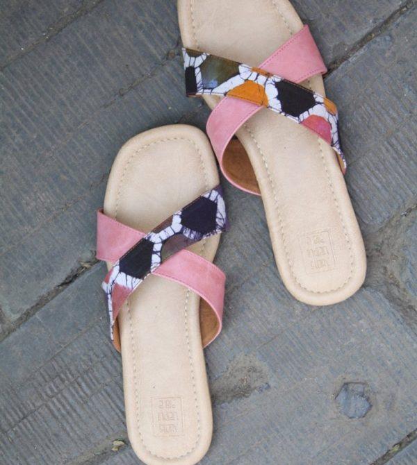 Batik Strapped Flats