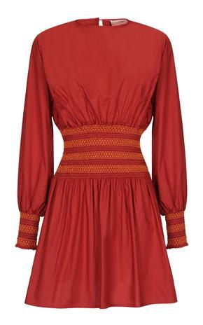 SANTOS DRESS BURGUNDY