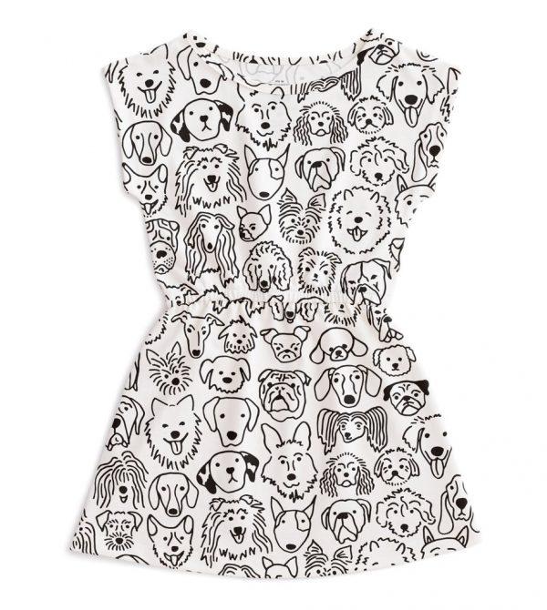 Sierra Dress – Dogs Black