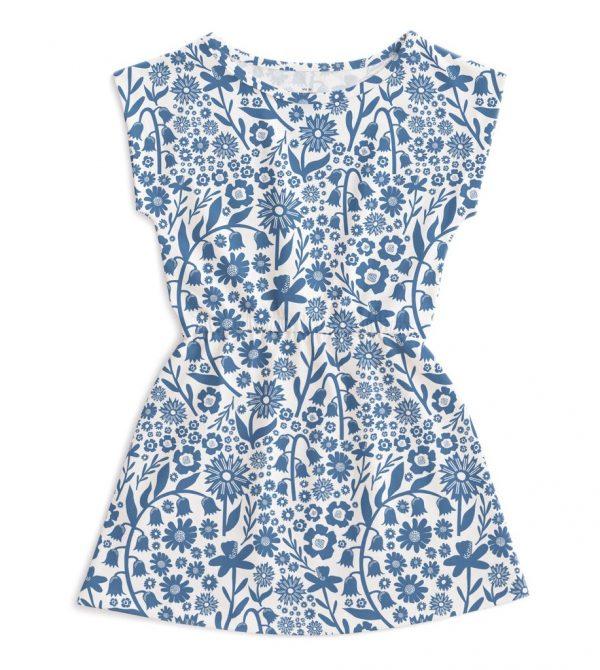Sierra Dress – Dutch Floral Delft Blue