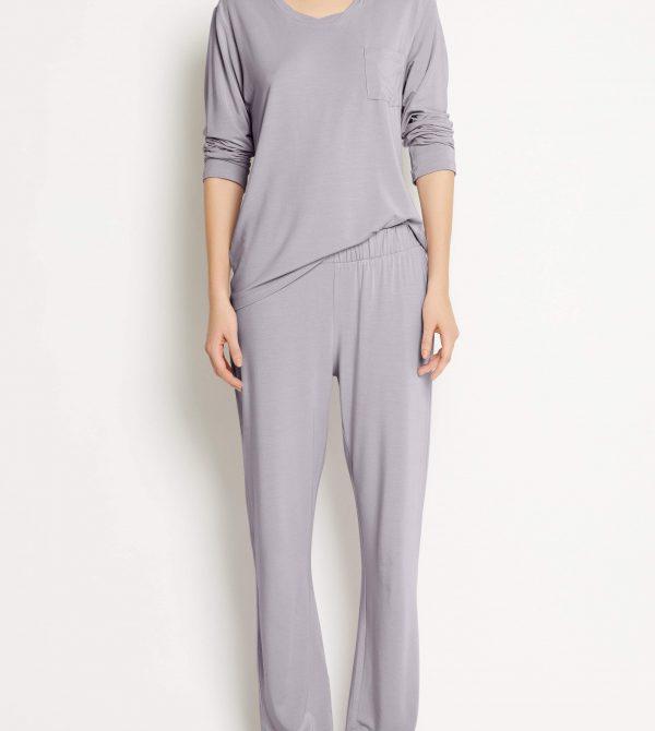 Loungewear pant SKY WIDE LEG PANT- Misty Lilac