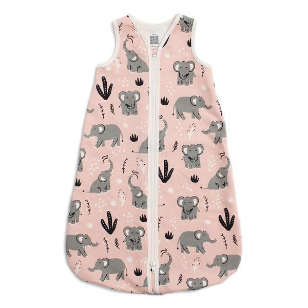 Organic Baby Sleep Bag – Elephants Pink