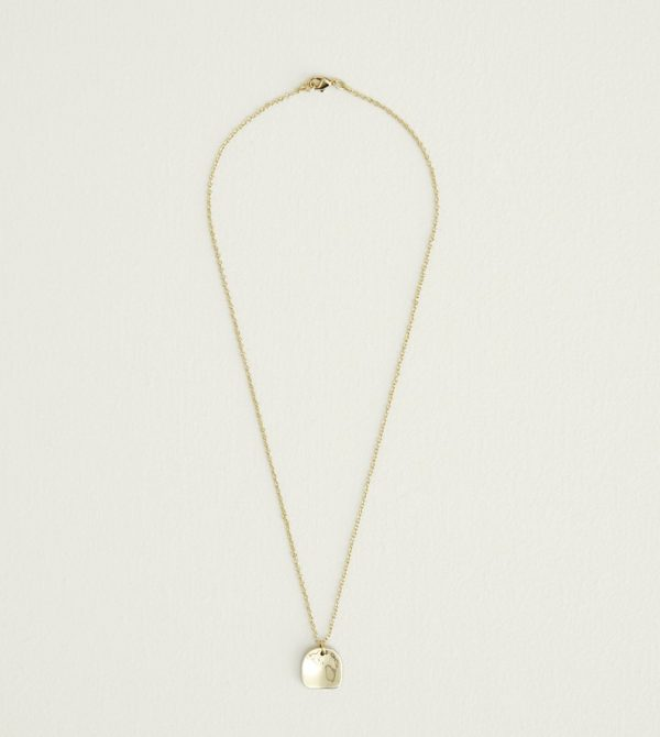 SOKO Organic Square Delicate Necklace (Brass)