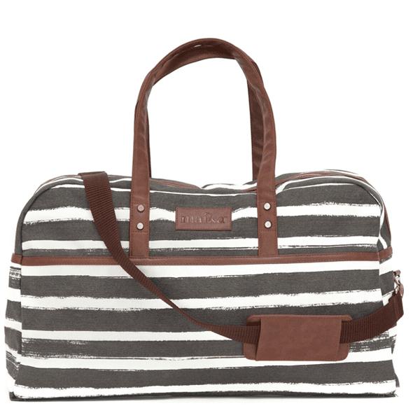 Duffel Bag – Charcoal Stripes
