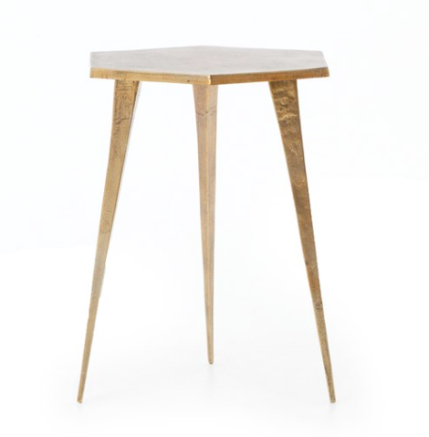 Hex Table Raw Brass
