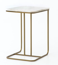 Adalley C Table Polished White Marble