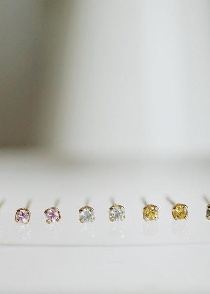 Baby Sapphire Stud Earrings