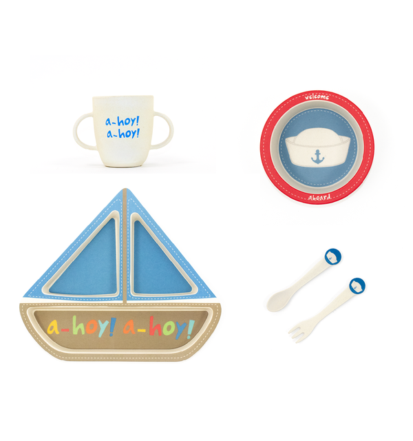 Sailboat Shaped Dinner Set