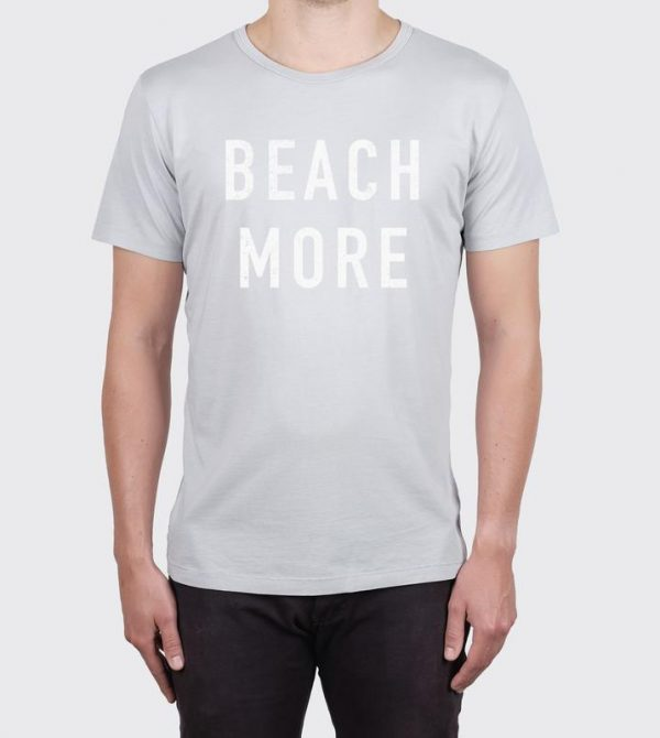 BEACH MORE TEE – CONCRETE