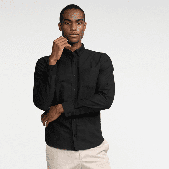CENTURY OXFORD SHIRT – BLACK