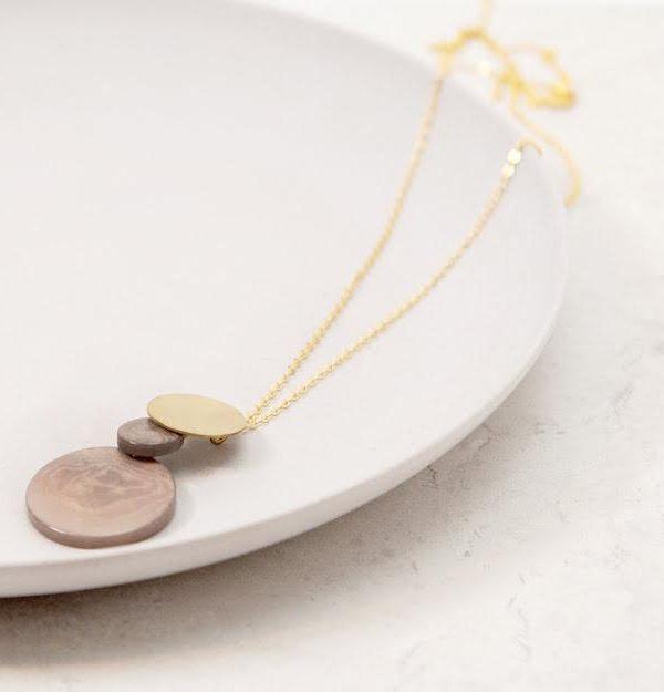 Tagua Disc Necklace