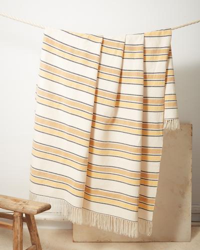 Gold Stripe Throw -Minna goods