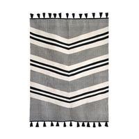 Kilim Valley Rug, Black Grey Egyptian Cotton 3'x5′, African Carpet – 54kibo