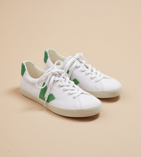 Veja Esplar Canvas Sneakers (White Emeraude)