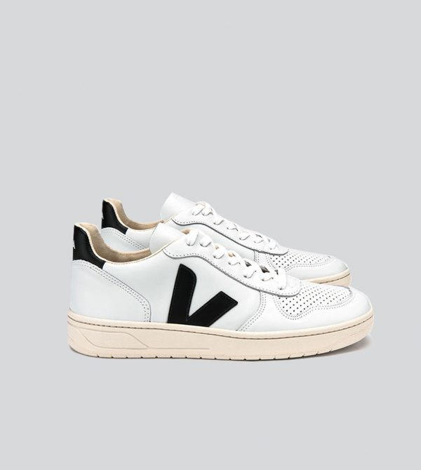 V-10 Leather Extra White Black