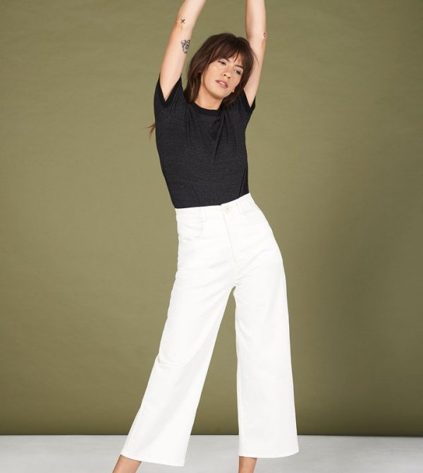 Flora Pant in White · Whimsy & Row