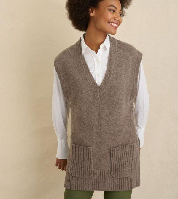 Kiah Sweater Vest (Portobello)