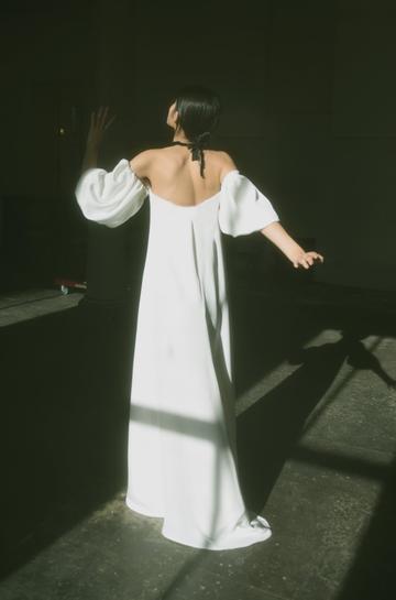 VERONA SILK GOWN | WHITE