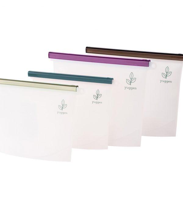 Reusable Silicone 'Ziplock' Bags  /  Pastels Bundle