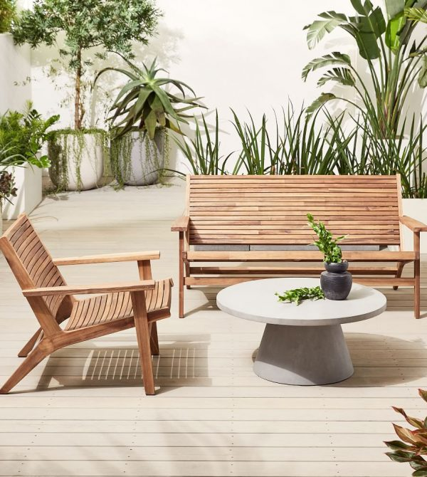 Acadia Outdoor Loveseat & Lounge Chair Set