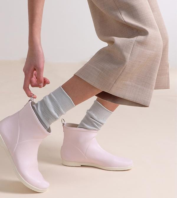 Minimalist Spring Pink Ankle Rain Boot