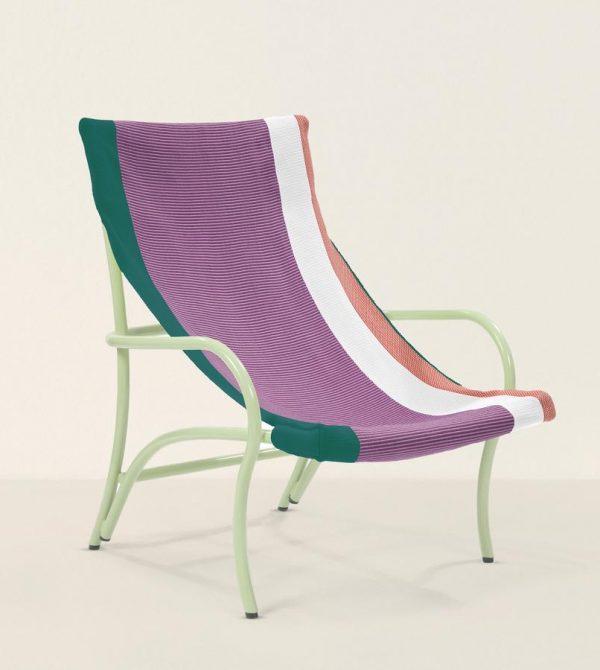 Maraca Lounge Chair (Green & Plum)