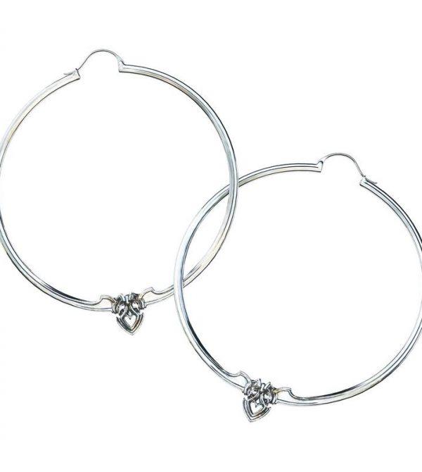 Amorette Silver Hoop Earrings