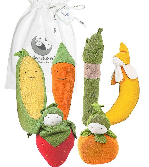 Baby's First Fruits & Veggies Gift Bag Set